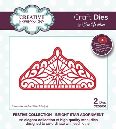 FESTIVE COLLECTION - Bright Star Adornment CED3060 by Sue Wilson